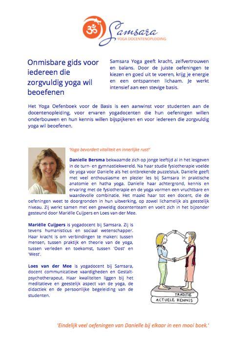 achterzijde yoga oefenboek